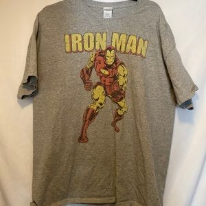 Iron man grey tee XL In EUC